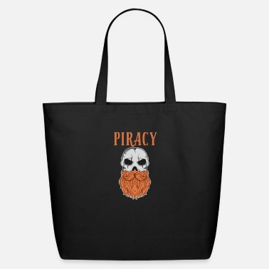 Piracy beard skull piracy cool gothic gift idea - Eco-Friendly Tote Bag