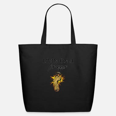 Priest Livin On A Prayer, rosary, catholic, gift, church - Eco-Friendly Tote Bag