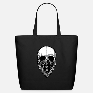 Anonymous Skull with Mask - Eco-Friendly Tote Bag