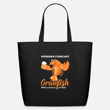 Crawfish CRAWFISH: Crawfish With a Chance of Beer - Eco-Friendly Tote Bag