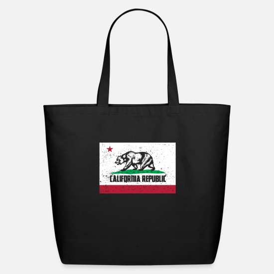 California Bags & Backpacks - California Republic Californian Flag - Eco-Friendly Tote Bag black