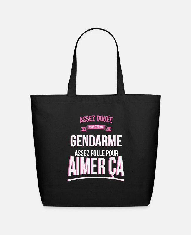 Enough Bags & Backpacks - Gendarme gifted mad woman gift - Eco-Friendly Tote Bag black