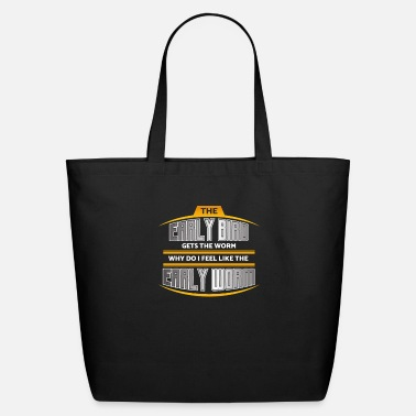 Early Early Bird Early Worm - Eco-Friendly Tote Bag