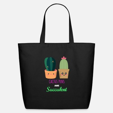 My Cactus Puns Are Succulent Tote Bag With Zip