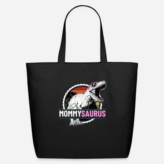 Sunglasses Bags & Backpacks - Mommysaurus Dinosaur with Pink Sunglasses Mothers - Eco-Friendly Tote Bag black