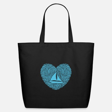 Comic Cool Sweet Sailing Enthusiast Sailboat Club Love - Eco-Friendly Tote Bag