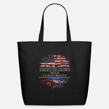 Cuban Roots Design American grown with cuban roots - Eco-Friendly Tote Bag