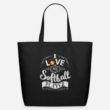 Softball Player I love my softball player - Eco-Friendly Tote Bag