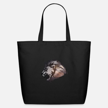 Lion Lion In The Forest - Double Exposure Style - Eco-Friendly Tote Bag
