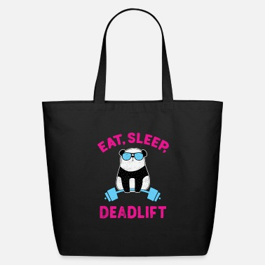Training Panda Deadlift Workout Weightlifting Bodybuilding - Eco-Friendly Tote Bag