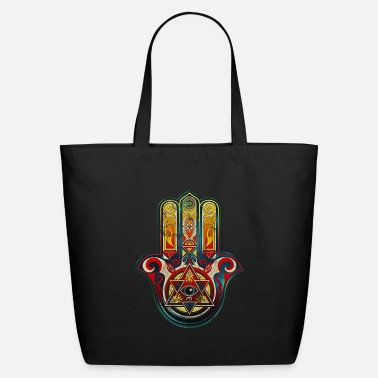 Hamsa Hand of Fatima All Seeing Eye Protection - Eco-Friendly Tote Bag