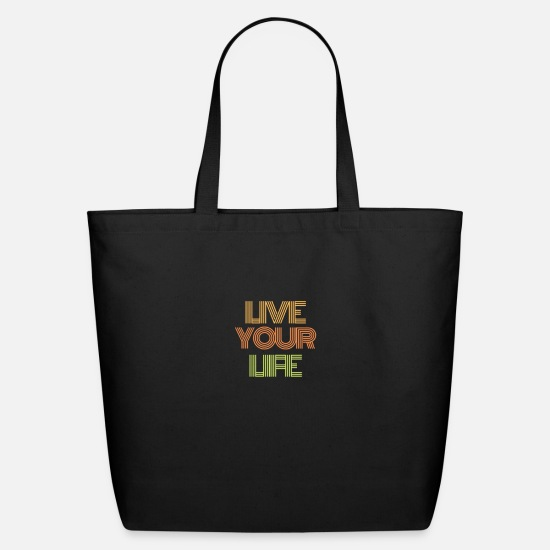 Life Force Bags & Backpacks - LiVE your life - Eco-Friendly Tote Bag black