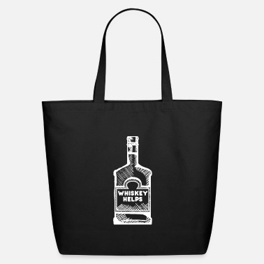 Whiskey Whiskey Helps - shirt Whiskey on the rocks - Eco-Friendly Tote Bag