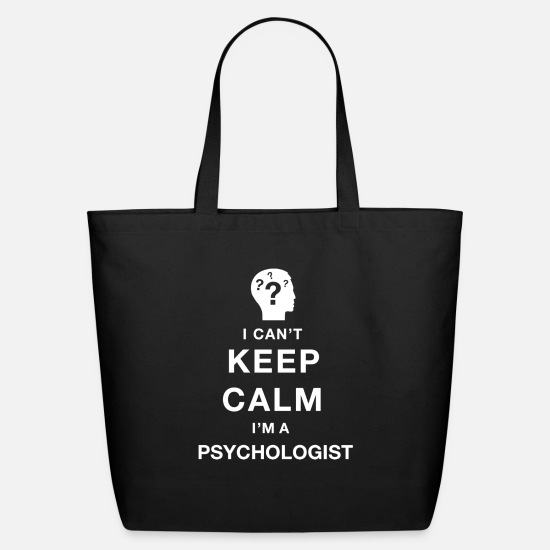 Psychotherapist Bags & Backpacks - Keep calm psychologist - Eco-Friendly Tote Bag black