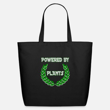 Vegan Funny Vegan Gift Powered By Plants - Eco-Friendly Tote Bag