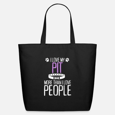 Csv I Love My Pit More Than I Love People - Eco-Friendly Tote Bag