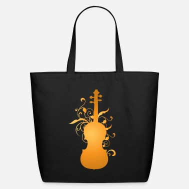 Violin Violin Music Stylized Orchestra Instrument - Eco-Friendly Tote Bag