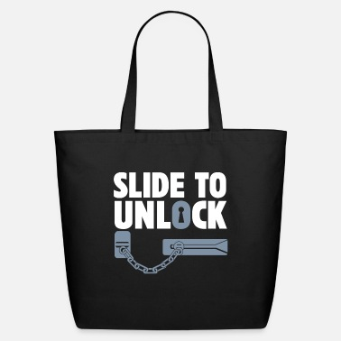 Unlock Slide to Unlock - Eco-Friendly Tote Bag