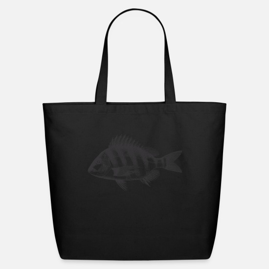 Carpe Diem Bags & Backpacks - Engraved Carp - Eco-Friendly Tote Bag black