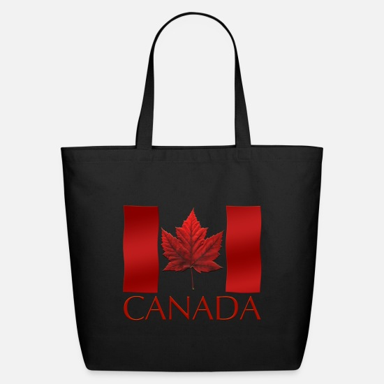 Canada Bags & Backpacks - Canada Souvenirs Cool Canada Flag Souvenir Shirts - Eco-Friendly Tote Bag black
