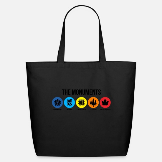 France Bags & Backpacks - THE MONUMENTS - Eco-Friendly Tote Bag black
