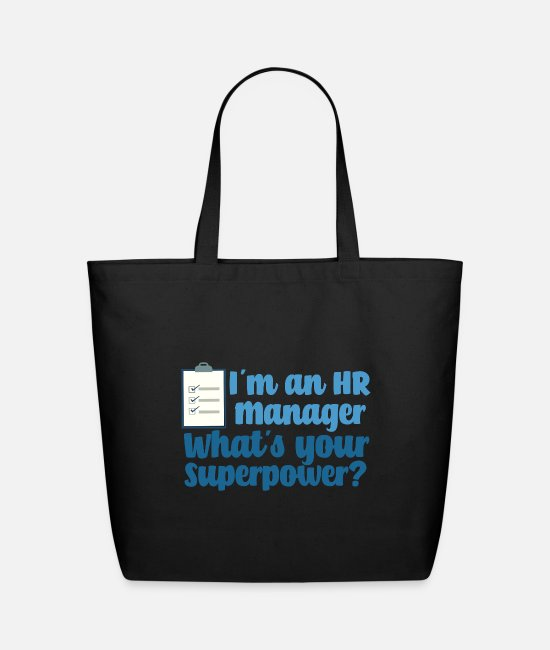 Commercial Bags & Backpacks - Super Human Resources Manager - Eco-Friendly Tote Bag black