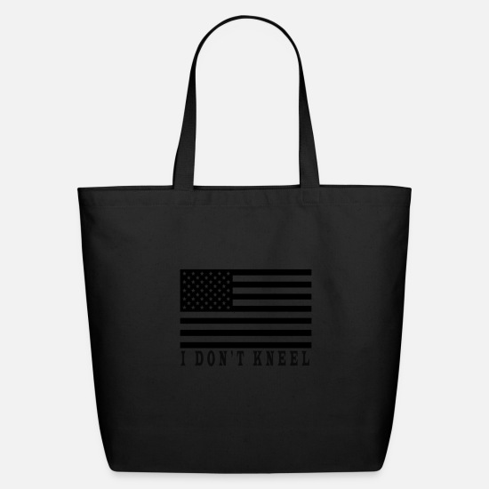 I Dont Kneel Bags & Backpacks - i dont kneel - Eco-Friendly Tote Bag black