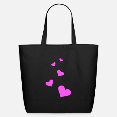 Pink Heart Heart pink - Eco-Friendly Tote Bag
