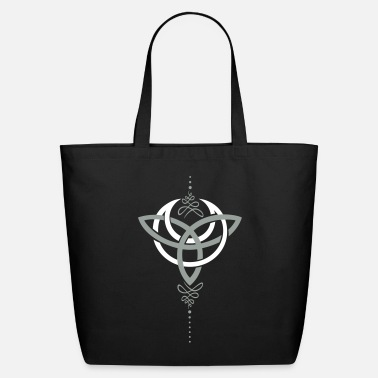 Wicca Celtic moon, crescent moon with Trinity symbol. - Eco-Friendly Tote Bag