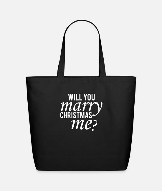 Christmas Bags & Backpacks - Will You Marry Christmas Me Cute - Eco-Friendly Tote Bag black