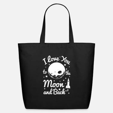 Valentine's Day I Love You To The Moon - Eco-Friendly Tote Bag