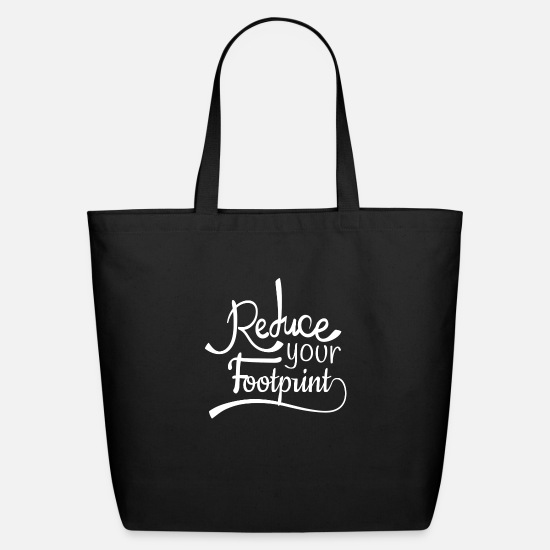 Earth Bags & Backpacks - Earth Reduce your Footprint - Eco-Friendly Tote Bag black