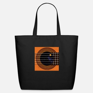 Cool Guitar Soundhole Button - Eco-Friendly Tote Bag