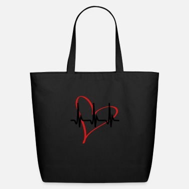 Serce heartbeat - Eco-Friendly Tote Bag
