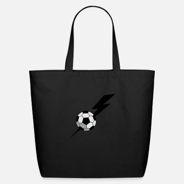 Inflated Oval SOCCER BALL world cup with a LIGHTNING BOLT - Eco-Friendly Tote Bag