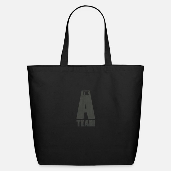 Team Bags & Backpacks - A TEAM FONT - Eco-Friendly Tote Bag black