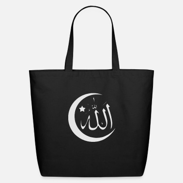 Allah Allah with crescent - Eco-Friendly Tote Bag