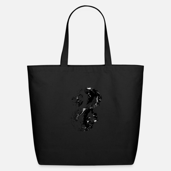 Lion Bags & Backpacks - Yin & Yang Lion Style.. - Eco-Friendly Tote Bag black
