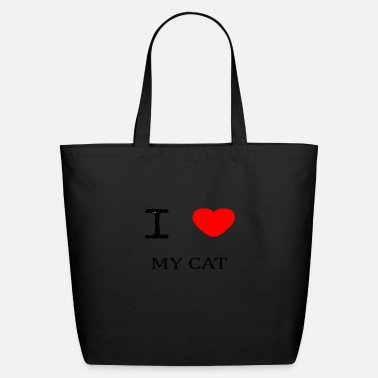 I Love My I LOVE MY CAT - Eco-Friendly Tote Bag