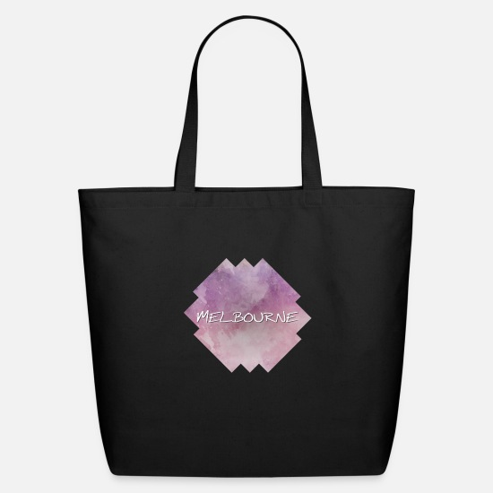Lettering Bags & Backpacks - Melbourne - Eco-Friendly Tote Bag black