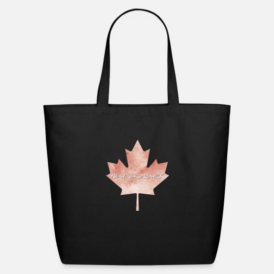 Country Bags & Backpacks - New Brunswick Maple Leaf - Eco-Friendly Tote Bag black