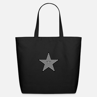 Black Star Black & White - Eco-Friendly Tote Bag