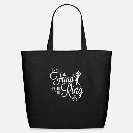 Funny Animals Bags & Backpacks - Final fling before the ring funny - Eco-Friendly Tote Bag black