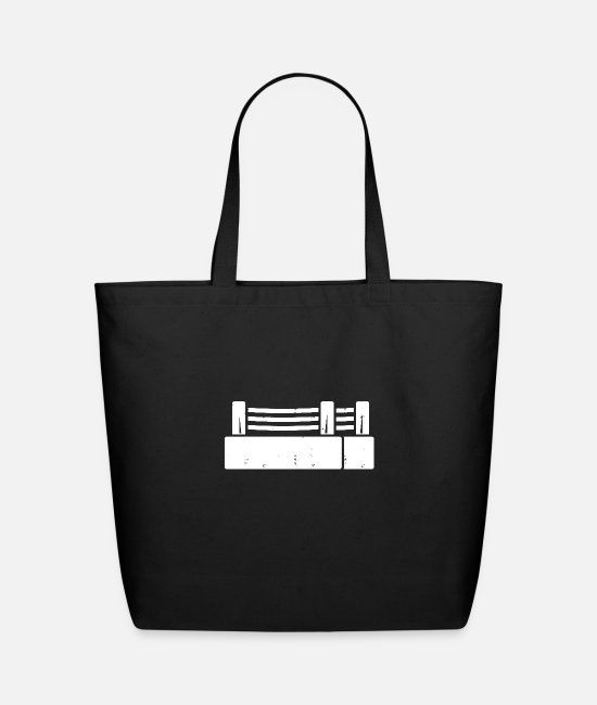 90 Min Bags & Backpacks - Boxing ring icon - Eco-Friendly Tote Bag black