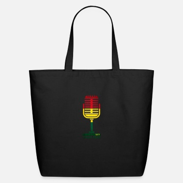 Undergroundsound.at REGGAE MUSIC MICROPHONE - Eco-Friendly Tote Bag