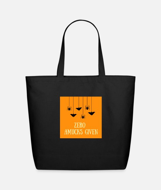 Father's Day Bags & Backpacks - Zero Amucks Given - Eco-Friendly Tote Bag black
