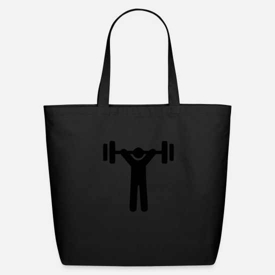 Lifting Bags & Backpacks - snatch cartoon - Eco-Friendly Tote Bag black