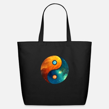 Yin Yang elements, space, cosmos, universe, star - Eco-Friendly Tote Bag