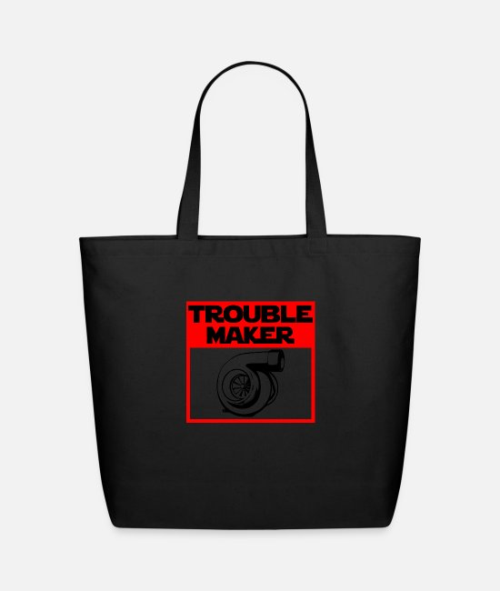 Speed Bags & Backpacks - Trouble Maker - Turbocharger - Eco-Friendly Tote Bag black