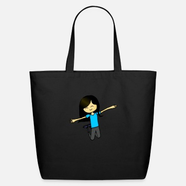 Jumping Girl jumping girl in colour - Eco-Friendly Tote Bag
